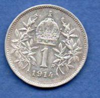 Autriche  -  1 Corona 1914 --  Km # 2820  - état  SUP - Austria