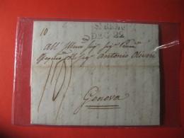 LETTERA  PREFILATELICA  DA SAN REMO AD ALESSANDRIA   CON TESTO 1819  E - 343 - Italie