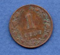 Pays Bas  -  1 Cent 1882 --  Km # 107  - état  TTB - 1849-1890 : Willem III