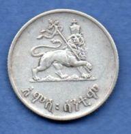 Ethiopie  -  50 Cents 1936 --  Km # 37  - état  TTB - Ethiopie