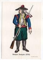 Histoire -- D'après Imagerie PELLERIN - Epinal --88 --Série Collection D'uniformes--Basque Français  1793 - Histoire