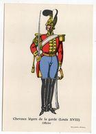 Histoire-d'après Imagerie PELLERIN-Epinal --Série Collection D'uniformes-Chevaux Légers De La Garde (Louis 18)-officier - Histoire