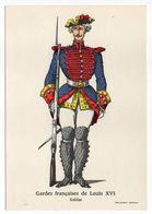 Histoire-d'après Imagerie PELLERIN-Epinal --Série Collection D'uniformes-Gardes Françaises (Louis 16)-soldat - Histoire