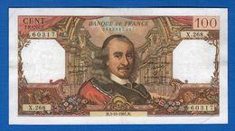 100 Fr  Du  5/11/1967  X 268 - 1962-1997 ''Francs''