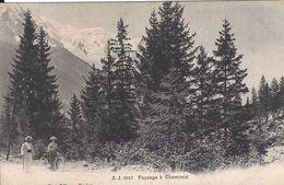 "74 CHAMONIX MONT BLANC UNE ""ELEGANTE"" ET SON MARI Editeur JULLIEN FRERES JJ 8017 - Chamonix-Mont-Blanc"