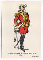 Histoire-d'après Imagerie PELLERIN-Epinal --Série Collection D'uniformes-Chevaux Légers De La Garde Louis 16-officier - Histoire