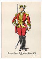 Histoire-d'après Imagerie PELLERIN-Epinal --Série Collection D'uniformes-Chevaux Légers De La Garde Louis 16-soldat - Histoire