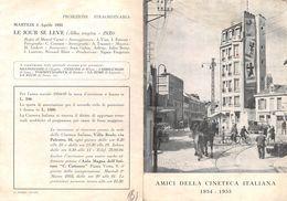 """0007 """"AMICI DELLA CINETECA ITALIANA 1954 - 1955 - PROGRAMMA DEL SECONDO CICLO"""" PIEGHEVOLE ORIGINALE - Programmi"""