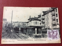 CPA Funiculaire Lausanne-Ouchy - Station De Montbriond - Switzerland