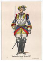 Histoire-d'après Imagerie PELLERIN-Epinal --Série Collection D'uniformes-Cuirassiers Sous Louis XV-  Soldat - Histoire
