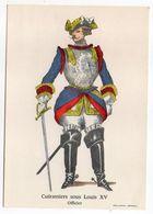 Histoire-d'après Imagerie PELLERIN-Epinal --Série Collection D'uniformes-Cuirassiers Sous Louis XV- Officier - Histoire
