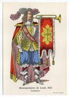 Histoire-d'après Imagerie PELLERIN-Epinal --Série Collection D'uniformes-Mousquetaire De Louis XIII - Trompette - Histoire