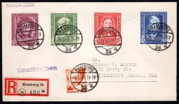 GER SC #B310-3 (Mi 117-20) 1949 S-P / Welfare Organizations FDC 12-14-1949 Registered CV E1700 - FDC: Covers