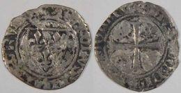 Pays De Loire Maine Et Loire Angers 1389 Petit Blanc à L'écu Dit Demi Guénar Charles VI - 1380-1422 Charles VI Le Fol