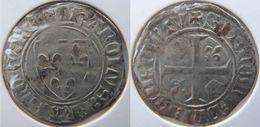 Belgique Wallonie (Bourgogne Médiévale) Tournai 1385 Blanc à L'écu Dit Guénar 1ère émission Charles VI - 1380-1422 Karel VI Van Frankrijk (De Waanzinnige)