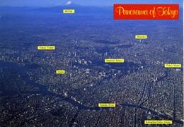 Tokio, Tokyo, Japan Panorama, Aerial View, Ginza, Imperial Palace, Tokyo Dome, Unused Postcard Z1 - Tokio