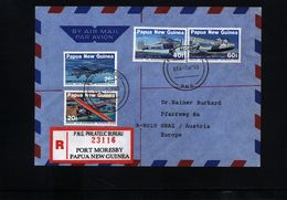 Papua New Guinea 1993 Interesting Airmail Registered Letter - Papouasie-Nouvelle-Guinée