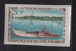 Cote D Ivoire - N°284 Non Dentele ** - Vapeur Ville De Maranhaos A Grand Bassam - Journee Du Timbre - Côte D'Ivoire (1960-...)
