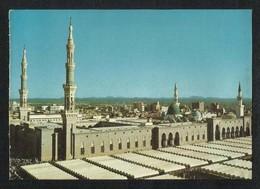 Saudi Arabia Picture Postcard Green Dome Holy Mosque Medina  Madina View Card - Arabie Saoudite