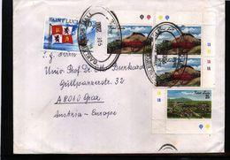 Saint Lucia 2000  Interesting Airmail  Letter - St.Lucia (1979-...)