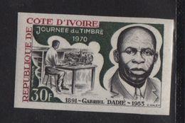 Cote D Ivoire - N°296 Non Dentele ** - Gabriel Dadie - Journee Du Timbre - Côte D'Ivoire (1960-...)