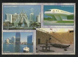 United Arab Emirates UAE Dubai Picture Postcard 4 Scene View Card - Dubai