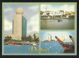 United Arab Emirates UAE Dubai Picture Postcard 3 Scene View Card - Dubai