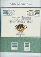 Alfred Wilhelm Finch  : HK 2417 + 2417 Et Timbre Finlandais En (**) - Herdenkingskaarten
