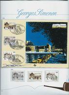 Georges Simenon: Carte HK 2579 + Les Timbres Des 3 Pays En Neufs(**) - Herdenkingskaarten