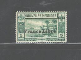 """NOUVELLES HEBRIDES 1941 """"FRANCE LIBRE"""" #67 + #69 V.V. L. HINGE MARK;I CAN SELL THEM INDIVIDUALLY. - French Legend"""
