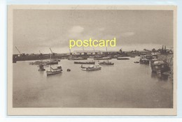 BEIRA - A VIEW AT THE WHARF , MOZAMBIQUE. OLD POSTCARD C.1920 #808. - Mozambique