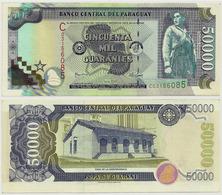 PARAGUAY - RARE 50000 GUARANIES NOTE SERIES C 2005 - UNISSUED AU - Paraguay