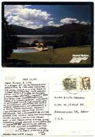 Chile 1991 Postcard Hotel Ralún - Swimming Pool & Reloncaví Estuary To U.S. - Chile