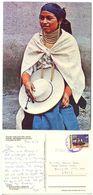 Ecuador 1989 Postcard Otavalo - Indian, Quito To U.S. W/ Scott 1266 UPAEP - Ecuador