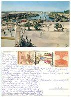 Colombia 1959 Postcard Cartagena - Market & Fishermen, To Pelham Manor, New York - Colombia