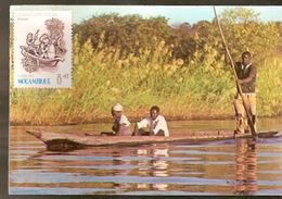 Botswana ** & Postal, Dugout On The Chobe River With Moçambique Stamp 1983 (8797) - Botswana