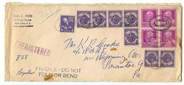 United States 1949 Registered Cover White Plains, New York To Scranton, Pennsylvania - Etats-Unis