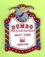 Gros Pin's BD Disney Dumbo Éléphant (Temps D'Attente) RARE - #206 - Disney