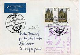 LSJP GERMANY COVER RETURNED SEAL SINGAPURA 1990 - Lettres & Documents