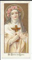 Image Pieuse Lithographie ST ROSA De LIMA - Godsdienst & Esoterisme