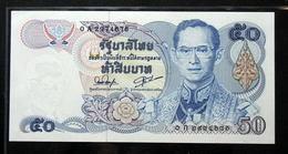Thailand Banknote 50 Baht Series 13 P#90 SIGN#54 Beginning Prefix 0Aก UNC - Thailand