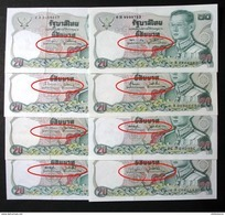 Thailand Banknote 20 Baht Series 12 Completed Set Of 16 Signatures - Thailand