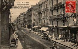 44 - SAINT-NAZAIRE - La Rue Ville-ès-Martin à La Hauteur De L'Hôtel Continental - M. CHEDEPEAU, Propriètaire - Saint Nazaire