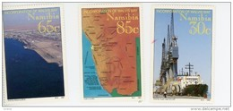 Namibie 1994-Carte,bateaux,port-YT 724/6***MNH- - Namibie (1990- ...)