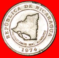 # FAO: NICARAGUA ★ 10 CENTAVOS 1974 MINT LUSTER! LOW START ★ NO RESERVE! - Nicaragua