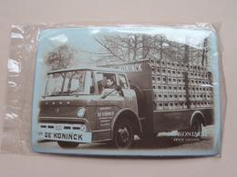 """Brouwerij / Brewery Bieren """" DE KONINCK """" ( Metalen Plaat 10 X 14,5 Cm. ) Hoge Gisting > ANTWERPEN! - Alcoholes"""