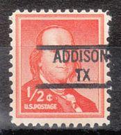 USA Precancel Vorausentwertung Preo, Locals Texas, Addison 841 - Vorausentwertungen