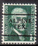 USA Precancel Vorausentwertung Preo, Locals Texas, Alpine 701 - Vereinigte Staaten