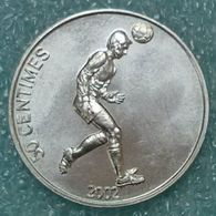 Congo - DRC 50 Centimes, 2002 Soccer Player ↓price↓ - Congo (République Démocratique 1998)
