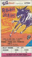 Place Rolling Stones Paris Parc Des Princes Juin 1990 - Biglietti D'ingresso